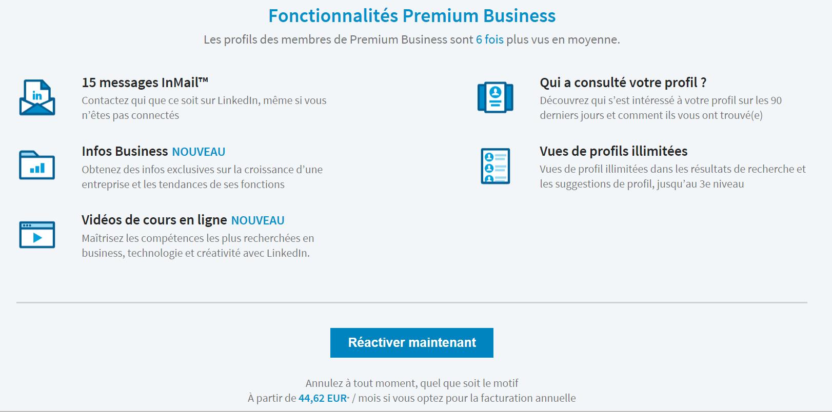 linkedin premium   prix de l u0026 39 abonnement premium   u2022 linkinfluent