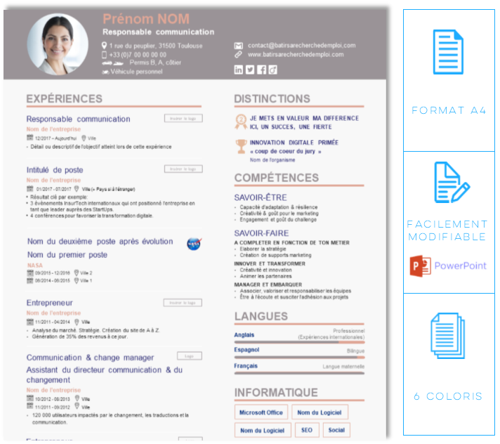 Modele De Cv 2020 Le Cv 2020 Par Les Recruteurs A Telecharger Ici