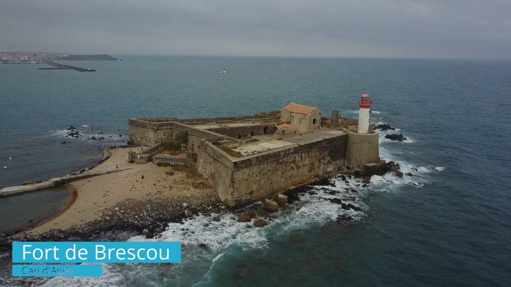 Fort de Brescou Cap d'Agde - Drone Proinfluent