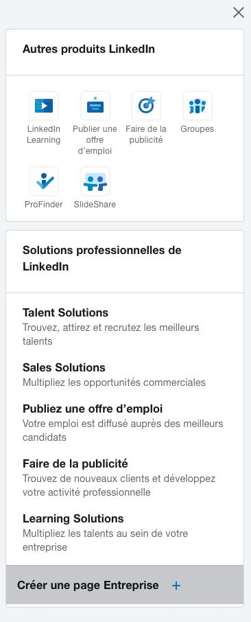 Création page LinkedIn entreprise