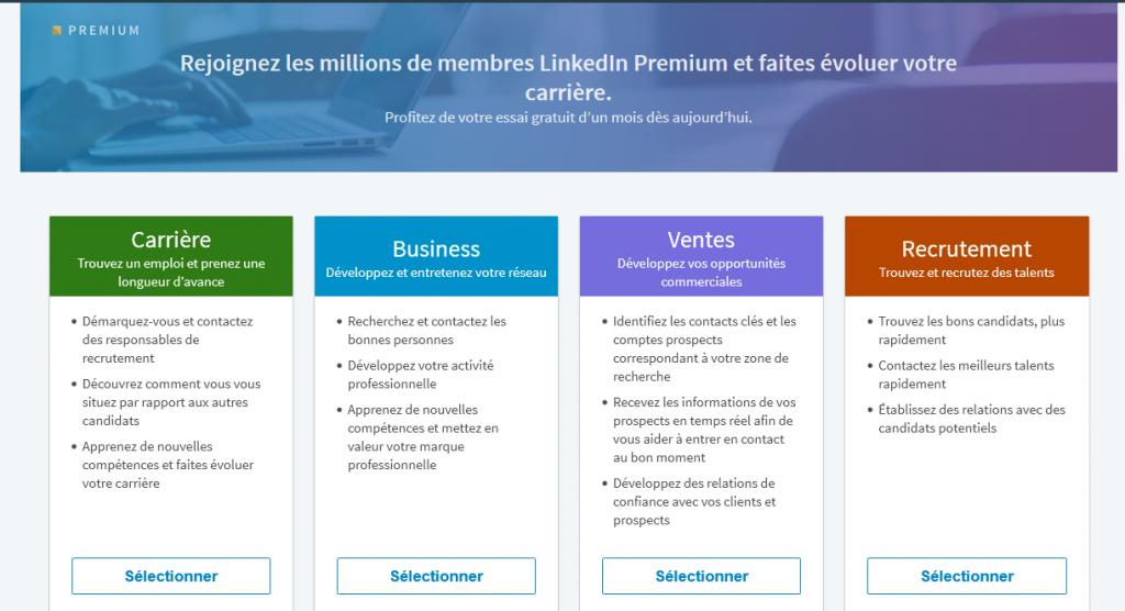 LinkedIn Premium gratuitement
