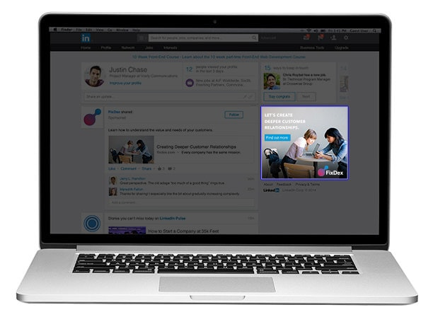 Display Ads format de publicité LinkedIn Ads
