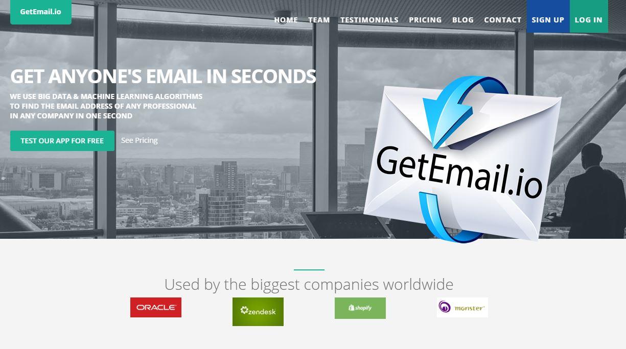 GetEmail.io pour extraire des emails