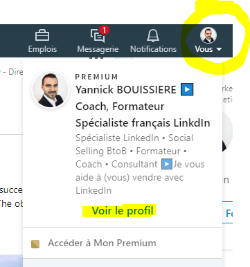 LinkedIn mettre son profil en Anglais Tutoriel