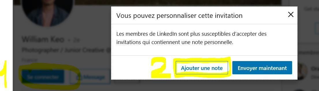 Personnaliser invitation LinkedIn - Linkinfluent