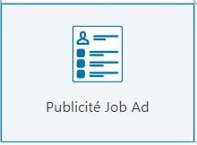 Publicité Job Ad LinkedIn Ads
