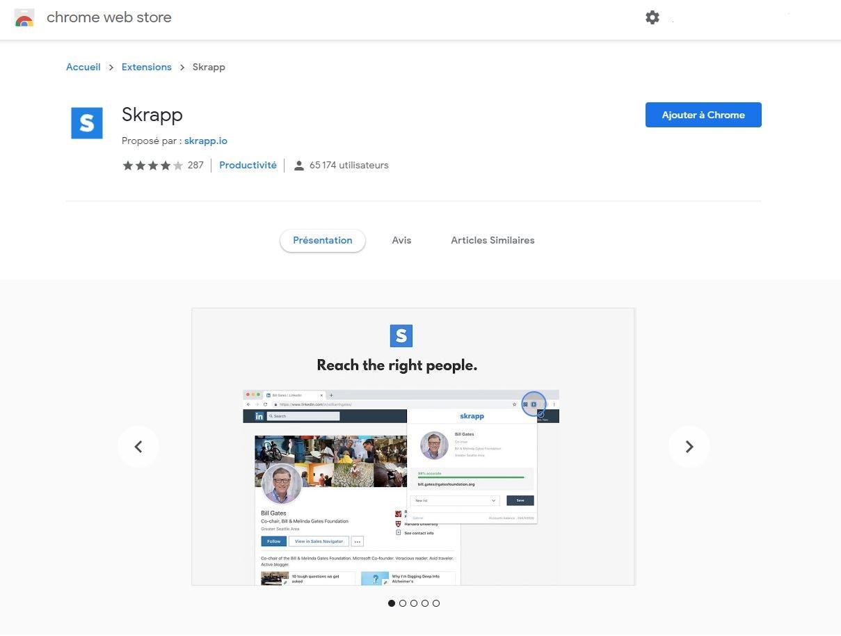 Skrapp trouver des emails sur LinkedIn