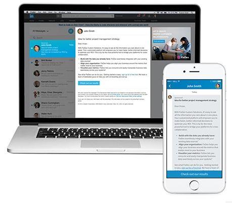 Sponsored InMail format de publicité LinkedIn Ads