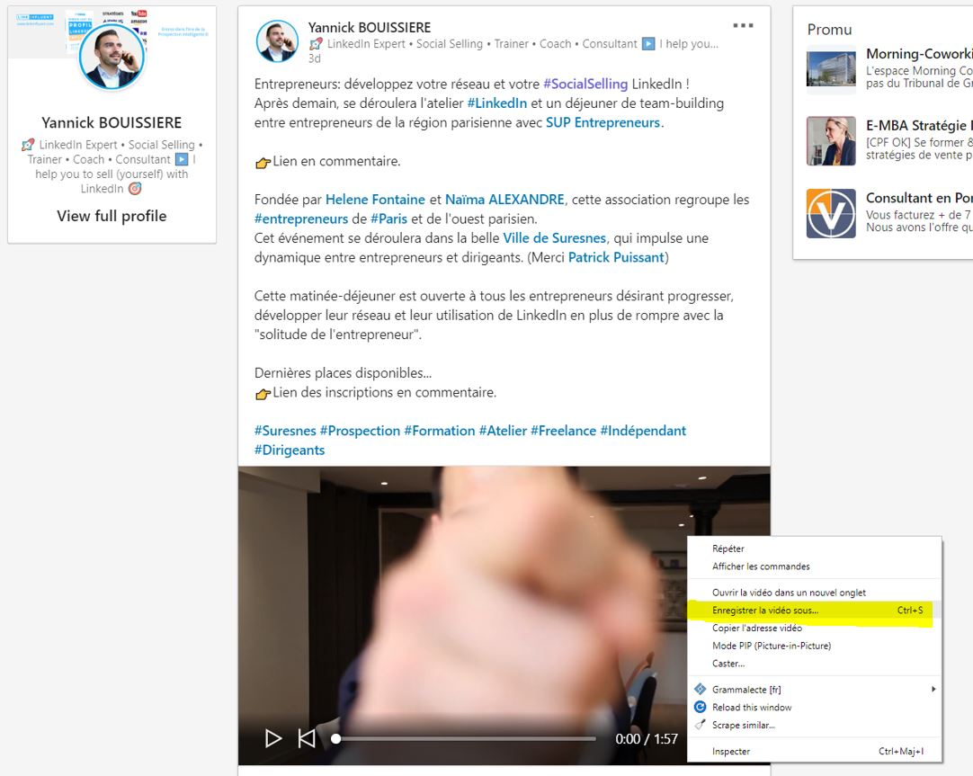 Télécharger vidéo LinkedIn
