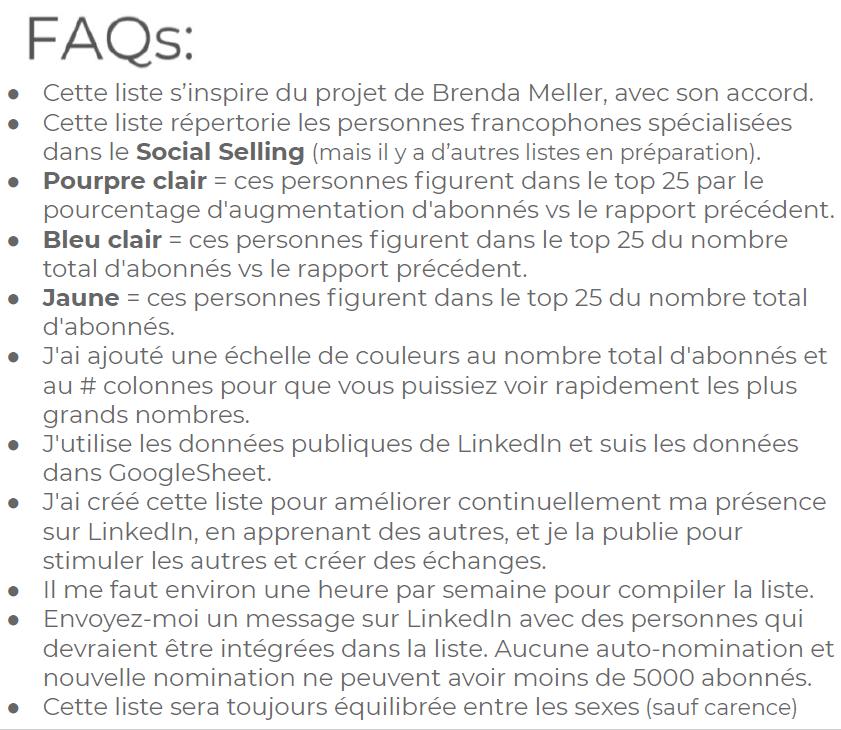 Méthodologie du classement des meilleurs specialistes social selling francophones