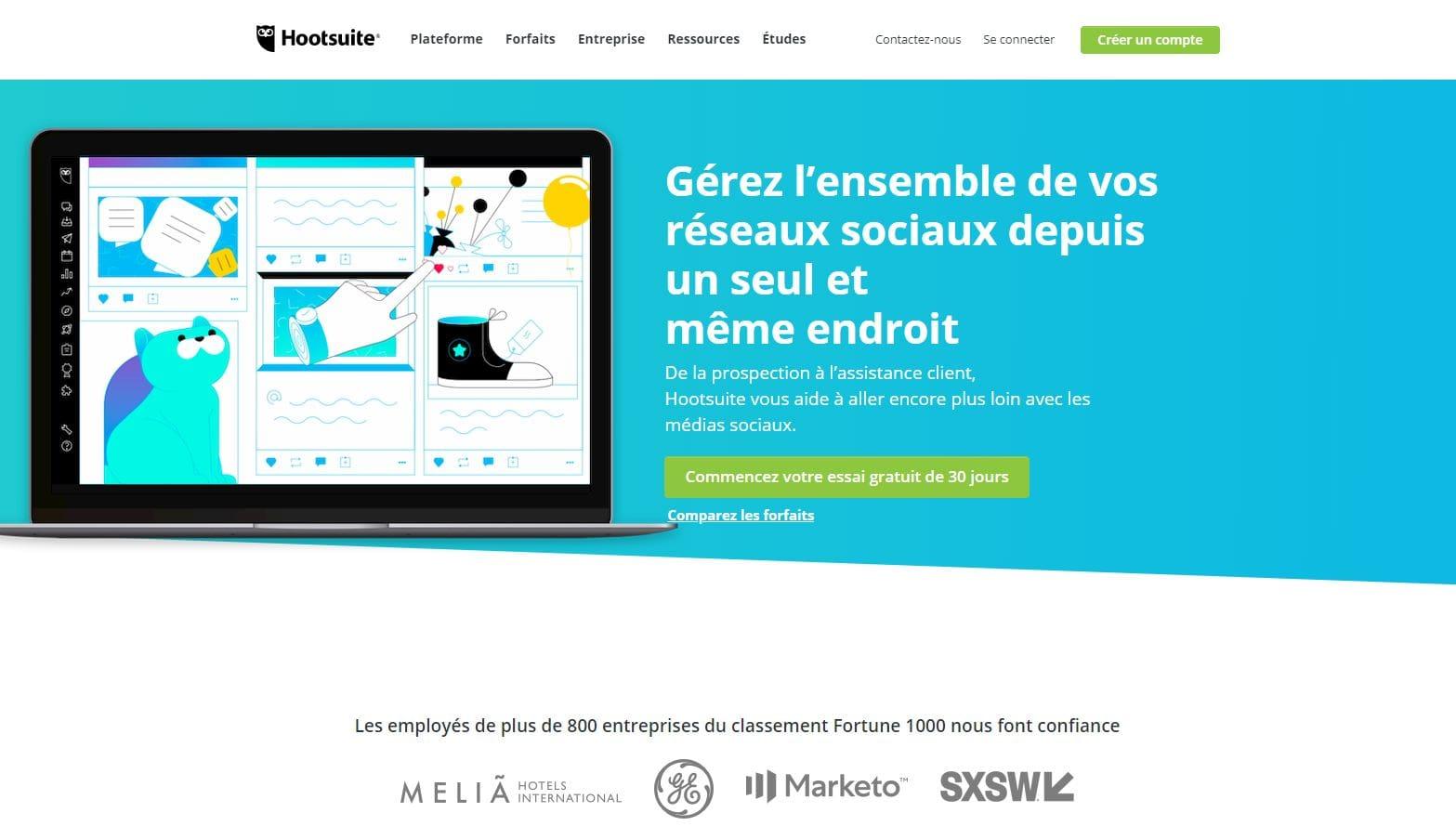 Programmer une publication sur LinkedIn avec Hootsuite