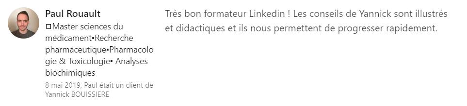 13 recommandation - Expert LinkedIn - Yannick BOUISSIERE - Specialiste LinkedIn, Formateur LinkedIn, Consultant LinkedIn, Coach LinkedIn-min