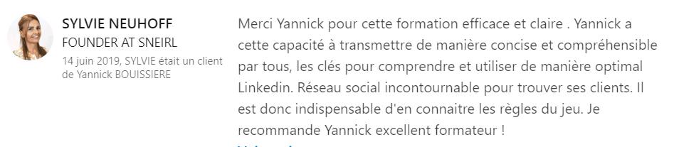 20 recommandation - Expert LinkedIn - Yannick BOUISSIERE - Specialiste LinkedIn, Formateur LinkedIn, Consultant LinkedIn, Coach LinkedIn-min