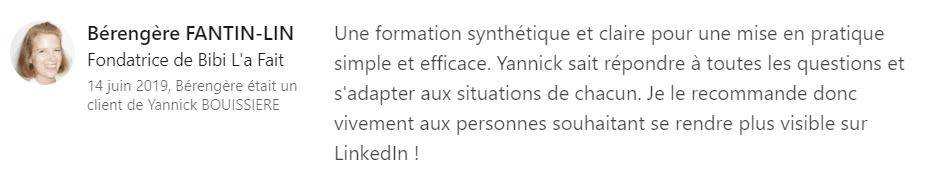 21 recommandation - Expert LinkedIn - Yannick BOUISSIERE - Specialiste LinkedIn, Formateur LinkedIn, Consultant LinkedIn, Coach LinkedIn-min