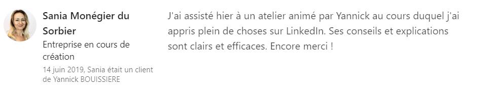 22 recommandation - Expert LinkedIn - Yannick BOUISSIERE - Specialiste LinkedIn, Formateur LinkedIn, Consultant LinkedIn, Coach LinkedIn-min