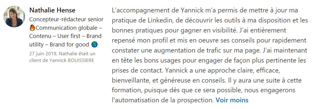 24 recommandation - Expert LinkedIn - Yannick BOUISSIERE - Specialiste LinkedIn, Formateur LinkedIn, Consultant LinkedIn, Coach LinkedIn-min
