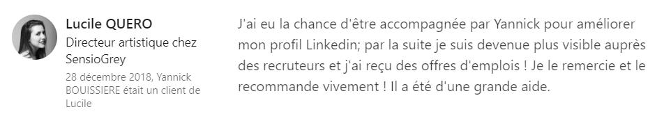 4 recommandation - Expert LinkedIn - Yannick BOUISSIERE - Specialiste LinkedIn, Formateur LinkedIn, Consultant LinkedIn, Coach LinkedIn-min