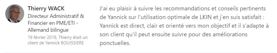 6 recommandation - Expert LinkedIn - Yannick BOUISSIERE - Specialiste LinkedIn, Formateur LinkedIn, Consultant LinkedIn, Coach LinkedIn-min