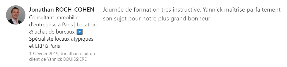 7 recommandation - Expert LinkedIn - Yannick BOUISSIERE - Specialiste LinkedIn, Formateur LinkedIn, Consultant LinkedIn, Coach LinkedIn-min