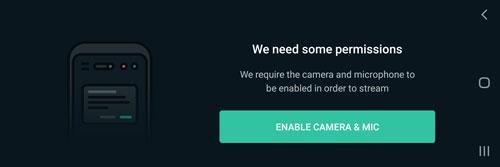 Restream sur mobile : connecter caméra et micro
