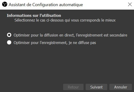 OBS Studio : configuration automatique
