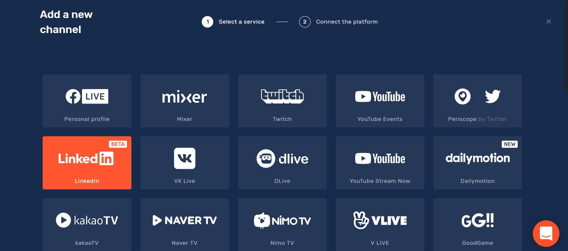 LinkedIn Live : connecter Restream et LinkedIn