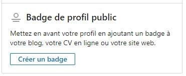 Utiliser LinkedIn : créer un badge