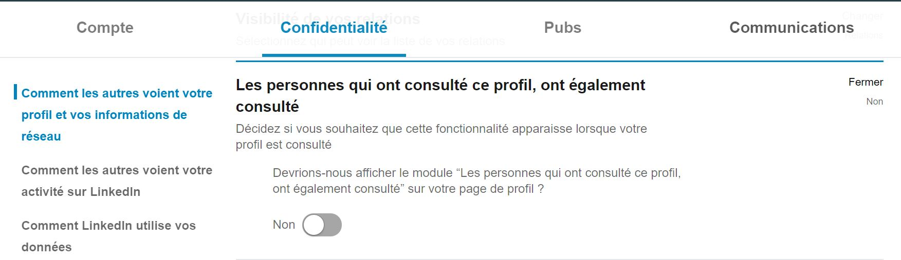 Utiliser LinkedIn : bloquer les profils similaires