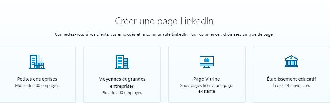 Utiliser LinkedIn : créer page entreprise