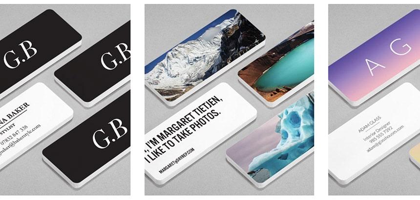 carte de visite minicard