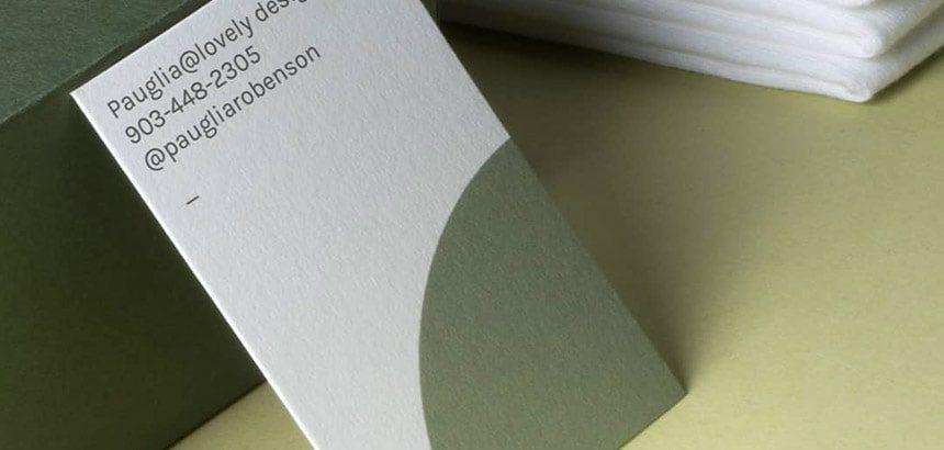 cartes de-visite recyclee