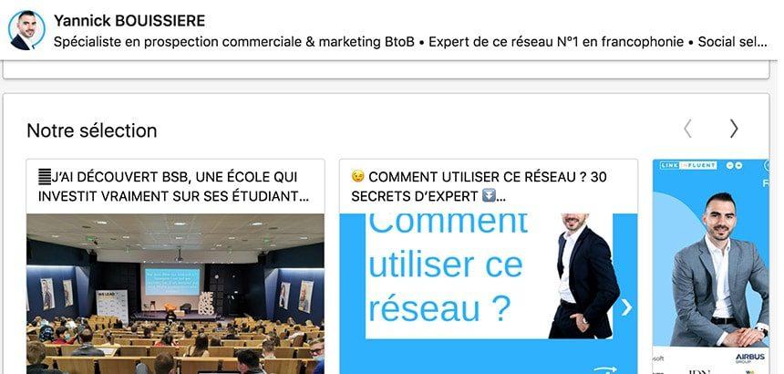 plaquette commerciale réseau professionnel LinkedIn