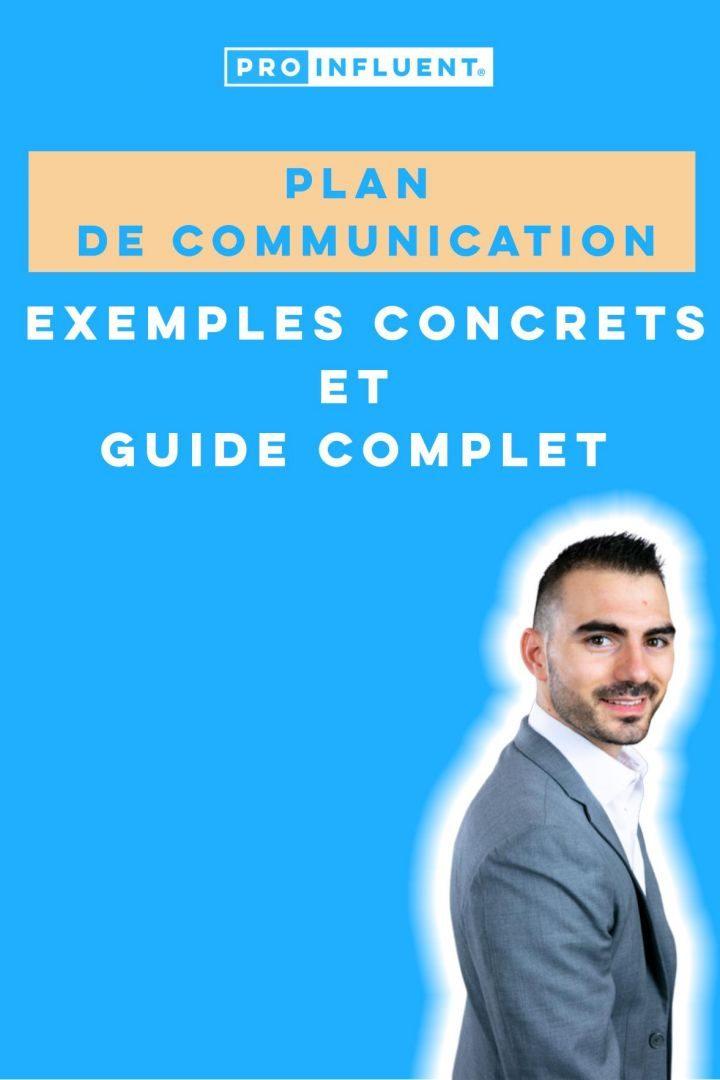 plan de communication exemples concrets