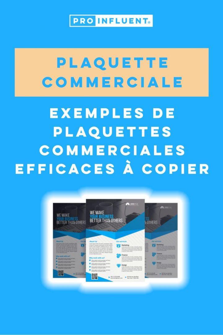 plaquette commerciale exemples efficaces