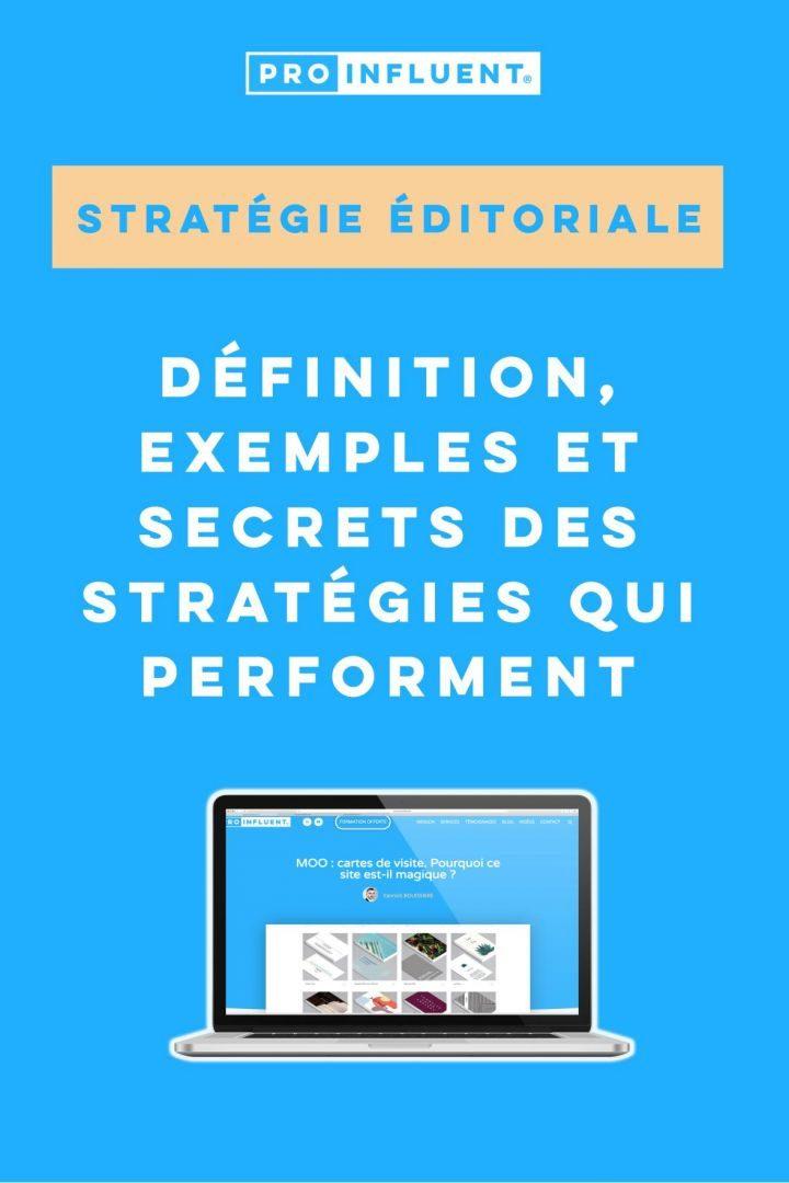 stratégie éditoriale définition