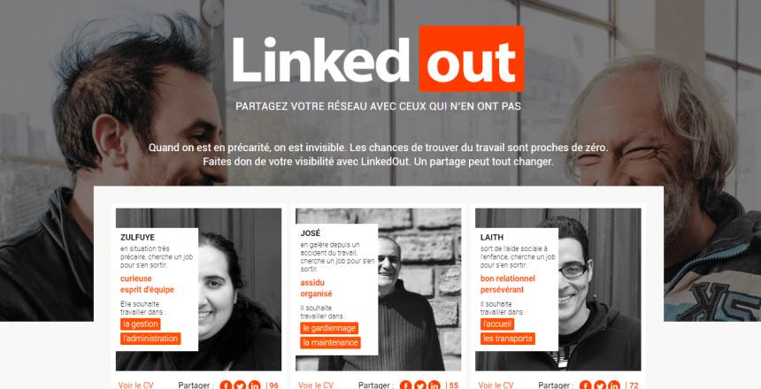 LinkedOut: le LinkedIn de la solidarité