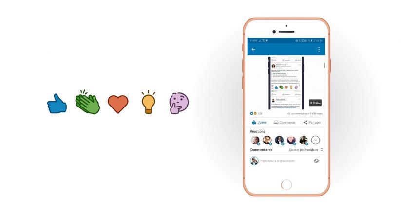LinkedIn s'inspire de Facebook et lance les réactions